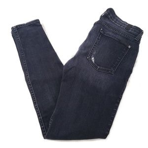 7 For All Mankind The Skinny Jean Black Distressed